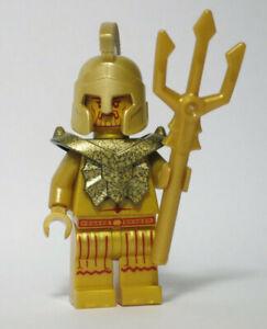 Temple Statue Poseidon 7985 Trident Gold Armor LEGO® Minifigure Figure fig