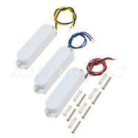 Single Coil Pickups Neck Middle Bridge Set for Strat Electric Guitar Parts White