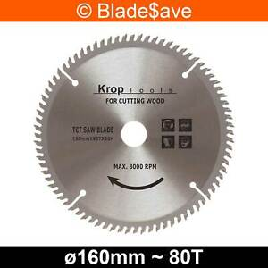 Worx Circular Saw Blade Fine Cut TCT 160mm x 16/20mm x 80T by KROP