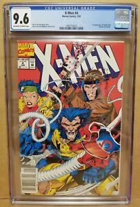 X-MEN #4 CGC 9.6 (NM+ OW/W) NEWSSTAND 1ST OMEGA RED APPEARANCE! HTF HOT