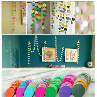 Star Heart Glitter Circle Paper Garland Bunting Banner Patry Wedding Decoration
