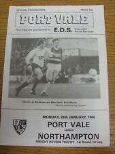 28/01/1985 Port Vale V Northampton Town [Freight Rover trofeo] (cuatro páginas, localización
