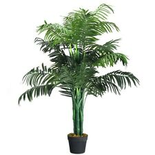 3.5' Artificial Palm Tree Areca Waterless Decorative Silk with Basket Fake Plant