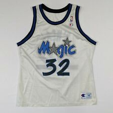 Shaquille Oneal Champion Mens Size 48 Orlando Magic Jersey White Classic Vintage