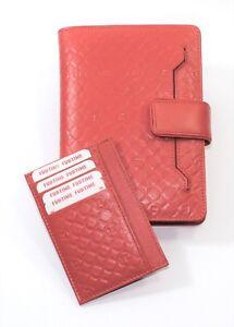 Copertina Vera Pelle per Agenda giornaliera o Weekly Porta Card documenti Donna
