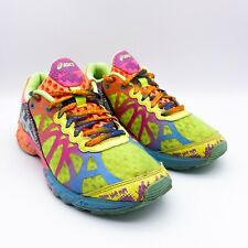 Asics Size 6 Gel Noosa Tri 9 Neon Multi Color Yellow Womens Running Shoes T458N