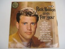 RICK NELSON sings For You OZ LP 1963