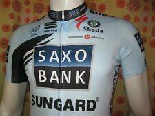 Ancien MAILLOT SAXO BANK SUNGARD TS? Pro Cycling Team Riis BodyFitPro Cyclisme