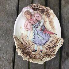 Antique Bernard Bloch Majolica Erotic Wall Plaque. Risque Lady. Eichwald