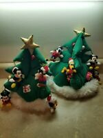 2 Disney World Christmas Tree Hat Pluto Goofy Minnie Mickey Donals Light Up