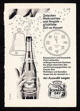 3w1935/ Alte Reklame von 1960 - CANADA DRY Ginger Ale