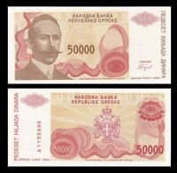 BOSNIA & HERZEGOVINA 50000 (50,000) Dinara, 1993, P-153, UNC World Currency