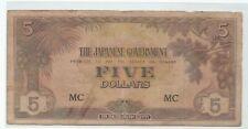 Malaya Japanese Invasion (JIM) $5 Dollar, MC (Fine)
