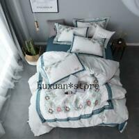 New Bedding Set Embroidery Duvet Cover Set Bed Sheet Pillowcase Queen King Size