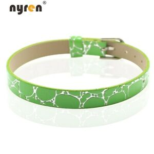 10pcs Leather Charms Bangle Bracelet 8mm Width For Charms DIY Jewelry 07046