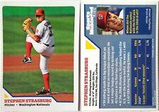STEPHEN STRASBURG 2010 rookie card WASHINGTON NATIONALS baseball SI for Kids RC