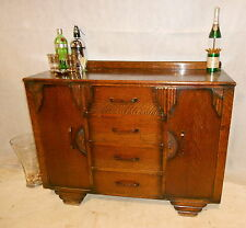 VINTAGE EMPIRE PERIOD OAK SIDEBOARD VINTAGE DRINKS BAR c1920-39 RETRO BAR