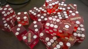 21 Wholesale LAS VEGAS AUTHENTIC CRAPS DICE TABLE USED HOTEL & CASINO BUNDLE LOT
