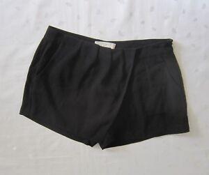 Joie 100% Silk Black Skort Short Shorts ~ Size S / Small