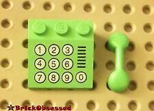 LEGO Green MINIFIG PHONE SET! Slope w 10 Buttons & Handset City Belville Vintage