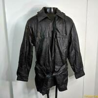 WILSONS Soft LEATHER JACKET Mens Size LT LT Black zippered insulated