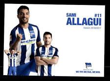 Sami Allagui Autogrammkarte Hertha BSC Berlin 2016-17 Original Signiert+A 153546