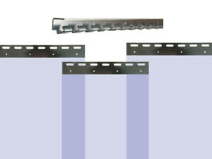 121,82EUR/1m PVC Vorhang Blau Breite: 250cm - Lager Industrie Kunststoff Hallen