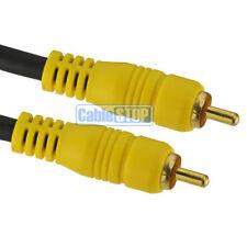 20m Profesional Amarillo de Phono RCA video Plomo Rg59 Digital Coaxial Cctv Cámara Cable