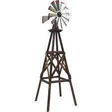 9ft. Ornamental Decorative Décor Outdoor Garden Yard Wood Windmill Weather Vane