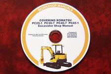 KOMATSU PC25-1, PC30-7, PC40-7, PC45-1 EXCAVATOR SERVICE SHOP MAINTENANCE MANUAL