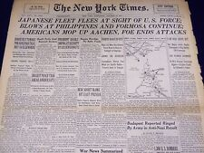 1944 OCTOBER 18 NEW YORK TIMES - JAPANESE FLEET FLEES U. S. FORCE - NT 3337