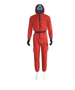 Squid Game Suit Cosplay Jumpsuit Halloween Party no mask