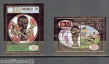 1973//CAMBODGE/KHMERE/COUPE/MONDE/FIFA/2xTIMBRES(NON DENTELES)GOLD//Y/T.PA.31C/D