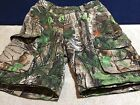 Youth Boys Camo Zip-Off Shorts (only) Medium Realtree Game Winner Polyester