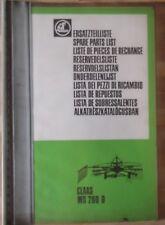 Claas WS 280 D Ersatzteilliste
