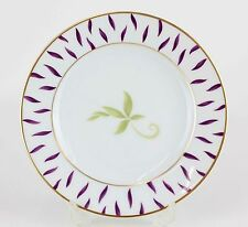 Bernardaud Limoges Frivole Green & Purple Leaves Gilded China Bread Plate H05