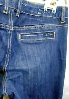 Seven7 Jean Size 12 109890 Dark Blue Stretch Premium Denim Dark Gold Stitching