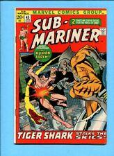 Sub-Mariner #45 Human Torch Tiger Shark Marvel Comics January 1972 VF
