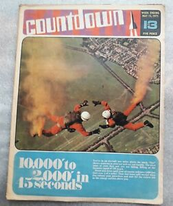 Countdown Issue 13 May 15th 1971 Doctor Who Fireball X15 Thunder Birds Comic...