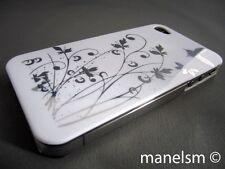 Funda Carcasa dura para iphone 4 y iphone 4S blanca mariposa