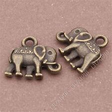 20pc Animal Elephant Pendant Charms Dangle Accessories Antique Bronze S248B