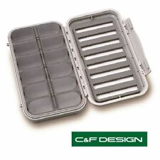 C & F Design Large 8-Row 12 Compartment Fly Box (CF-3308) * 2020 Stock *