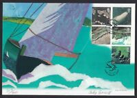 2002 Great Britain GB First Day Cover Coast Lines Artist Signed FDI FDC