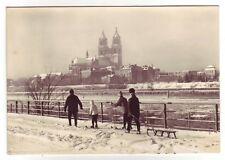 AK Magdeburg im Winter Elbe und Dom 1971