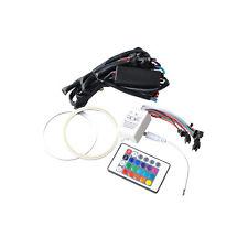 2x 120mm RGB Remote Control COB LED Angel Eyes Kit Car Halo Ring Flashing