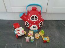 ELC happyland teapot/kettle cottage playset+figures,car,pram+furniture