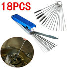 Motorcycle Carburetor Carb Jet Deposit Remove 18 Cleaning Tool Wire Cleaner Set