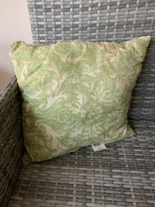 Set Of Four Light Green Floral Scatter Cushions