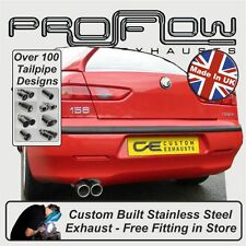 ALFA ROMEO 156 EXHAUST BACK BOX - CUSTOM BUILT STAINLESS STEEL - FREE FITTING P1
