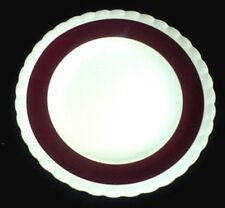 J & G MEAKIN SOL 391413 Cream/Burgundy Red Band MEK260 9 3/4 in Plate x1(5 ava